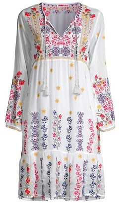 Johnny Was Daisy Embroidered Dress
