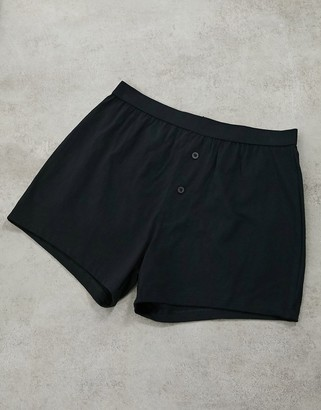 Asos Design DESIGN jersey boxers in black