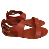 Gucci Orange Leather Sandals