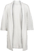 Splendid Metallic Striped Ribbed-Knit Cardigan