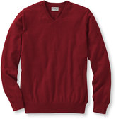 L.L. Bean Cotton/Cashmere Sweater, V-Neck