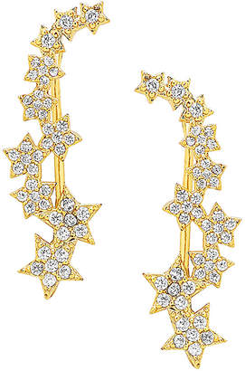 Sterling Forever 14K Plated Cz Ear Crawlers