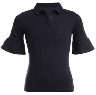 Nautica Uniform Bell Sleeve Polo Shirt (Little Girls)