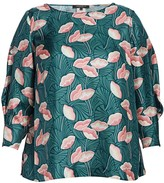 Lafayette 148 New York Lafayette 148 New York, Plus Size Caddie Printed Silk Blouse