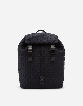 Dolce & Gabbana Neoprene Palermo Tecnico Backpack With All-Over Detailing