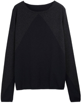 CHINTI + PARKER Large Upward Triangle Print Intarsia Sweater