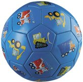 Crocodile Creek Vehicles Blue Kids Soccer Ball Size 3, 7 inches