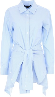 Alexander Wang Deconstructed Tied Front Shirt Dress