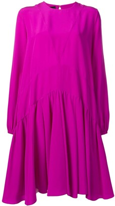 Rochas panelled pleated dress