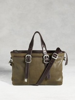 John Varvatos Bleeker Triple Zip Attache Bag