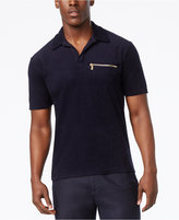 Sean John Men's Terrycloth Zipper Pocket Polo