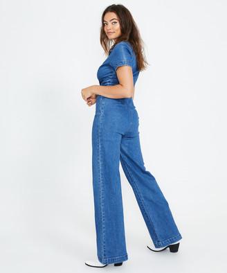 Insight Nikki Maxi Denim Boiler Suit Blue