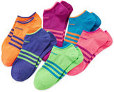 adidas 6-pk. Superlite No-Show Socks - Girls