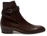Saint Laurent Buckle-strap Leather Chelsea Boots