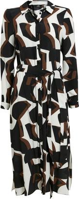 Wallis Brown Block Print Shirt Dress