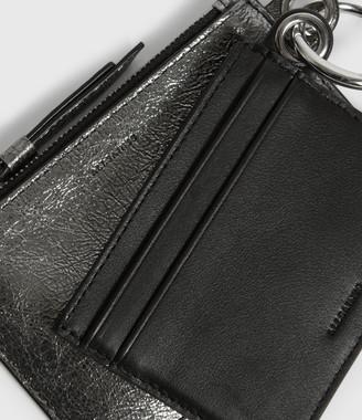 AllSaints Miki Lea Leather Key Fob