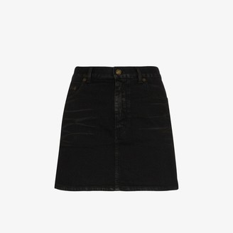 Saint Laurent Classic denim mini skirt