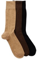 Cole Haan 3-Pair Solid Flat Knit Crew Socks
