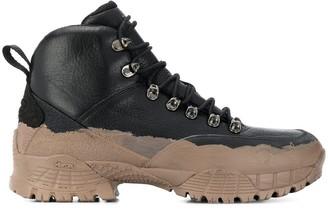 Alyx x Stussy mud-effect hiking boots