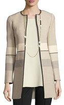 Lafayette 148 New York Pria Novelty Open-Front Coat, Multi