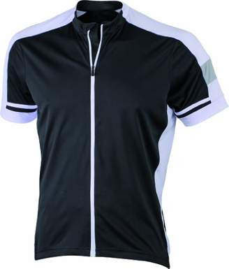 James & Nicholson Men's Radtrikots Bike-T Full Zip Sports Shirt,(Size: )