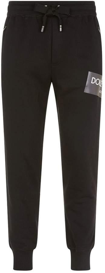 Dolce & Gabbana Coated Logo Sweatpants