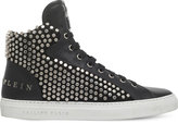 Philipp Plein Richy Stud-embellished Leather High-top Trainers