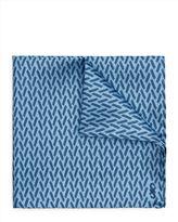 Silk Straw Print Pocket Square