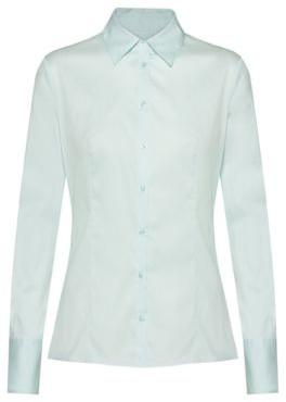 HUGO BOSS Slim-fit blouse in easy-iron poplin