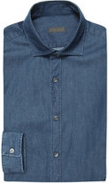 Z Zegna Slim-fit Denim Shirt