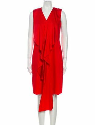 Akris Punto V-Neck Knee-Length Dress w/ Tags Red