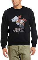 Marvel Men's Avengers Assemble Thor The Mighty Long Sleeve Sweatshirt