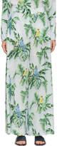 Stella McCartney Blue Silk Palm Wide-Leg Trousers