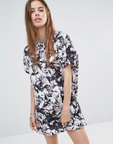 Noisy May Tunic Dress in Shattered Print