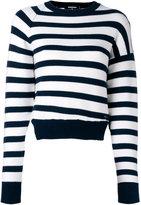 DSQUARED2 striped jumper - women - Wool/Polyester/Spandex/Elastane - XS