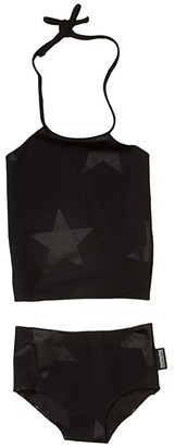 Nununu Star Collar Bikini (Infant/Toddler/Little Kids) (Black) Girl's Swimwear Sets