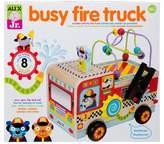 Alex Toys Jr. Busy Fire Truck Wooden Activity Center
