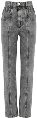 Etoile Isabel Marant Henoya Grey Straight-leg Jeans