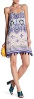 Angie Printed Tassel Trim Sun Dress