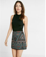 Express jacquard mini skirt