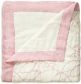 Aden Anais Aden + Anais Rayon From Bamboo Fiber Muslin Dream Blanket, Tranquility - Leafy/Solid White