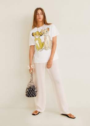 MANGO Disney t-shirt white - XS - Women