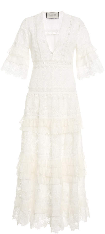 Alexis Hazelle Guipure Lace Dress