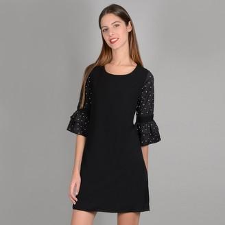 Molly Bracken Short Shift Dress with 3/4 Length Sleeves