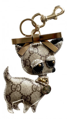 Gucci Brown Cloth Bag charms