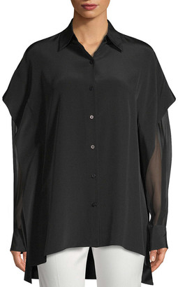 Diane von Furstenberg Silk Layered Sleeve Blouse