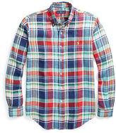 Big & Tall Polo Ralph Lauren Plaid Linen Sport Shirt