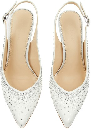 Monsoon Hellie Heatseal Bridal Court Shoes - Ivory