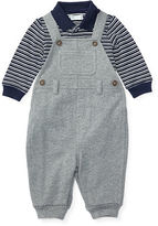 Ralph Lauren Cotton Bodysuit & Overall Set