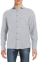 Michael Kors Striped Linen Sportshirt